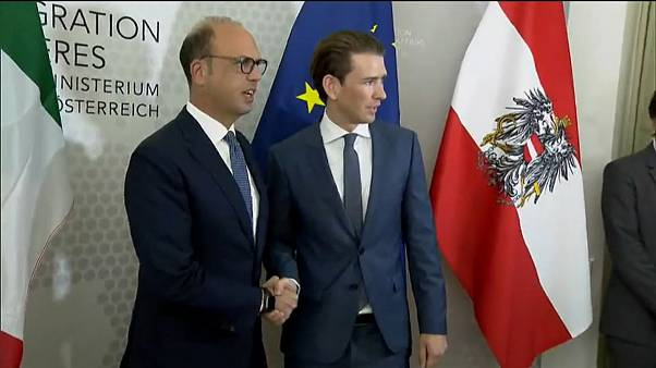 Row over Austria's Foreign Minister's comments that Italy is giving illigal migrants a gateway to Europe.