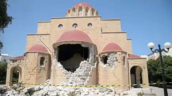 Последствия землетрясения в Эгейском море