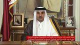 """أمير قطر:""""نرفض أن ينتهك أحد سيادتنا"""""""