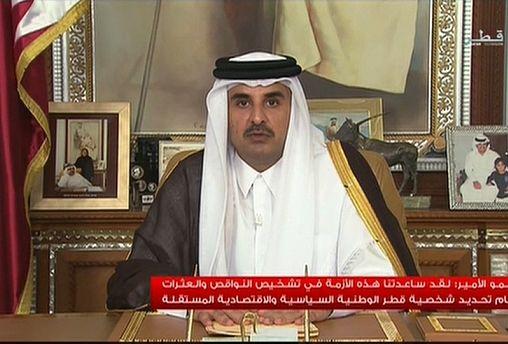 أمير قطر يخاطب الناس الليلة لأول مرة منذ فرض الحصار