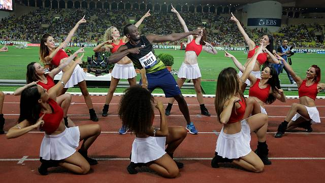 Usain Bolt Elmas Lig'de 100 metre yarışını kazandı