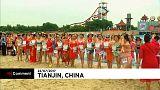 مسابقة أجمل لباس سباحة للمسنين في الصين