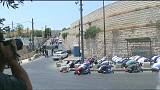 Kudüs'teki Müslümanlar İsrail'i namaz kılarak protesto etti