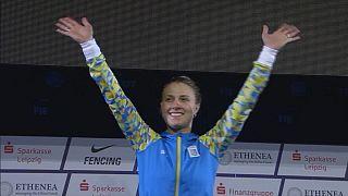 Olga Kharlan e Paolo Pizzo vencedores no Mundial de Esgrima