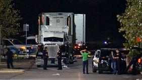 پلیس تگزاس آمریکا در یک کامیون هشت جسد و شماری مصدوم کشف کرد