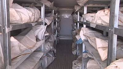 Des centaines de corps de combattants de L'EI dans l'attente d'un rapatriement à Syrte
