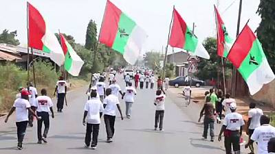 """Burundi's ruling party youth stage """"demonstration of strength"""""""