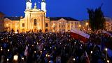 Poland protests this time with candles