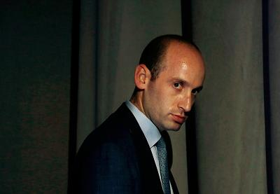 White House senior policy adviser Stephen Miller at a Republican dinner in Columbus, Ohio, in August.