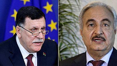 Libye : rencontre Sarraj-Haftar mardi à Paris