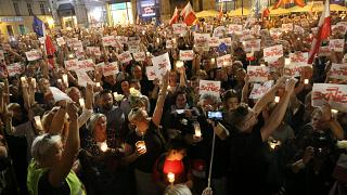 Protests at Polish law reform bill