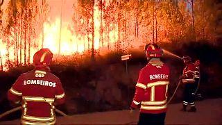 Portugal erneut im Kampf gegen die Flammen