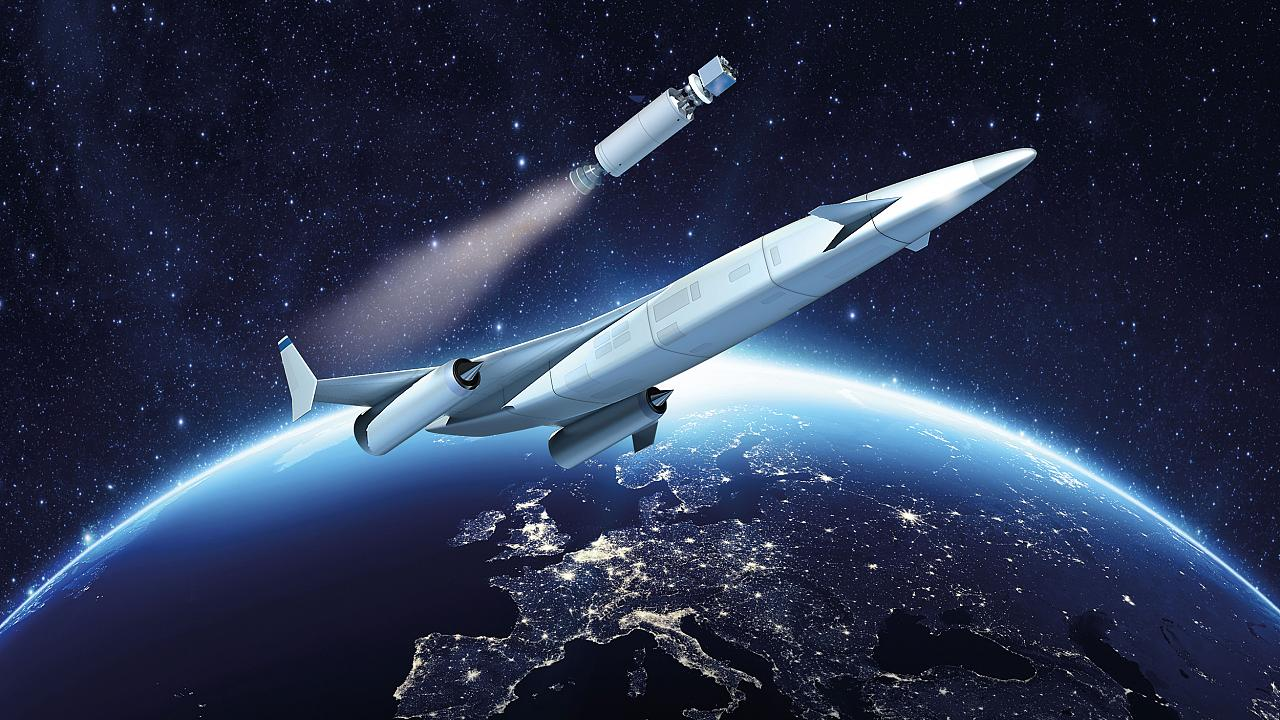 Image: An artists rendering of a Reaction Engines flight to space.