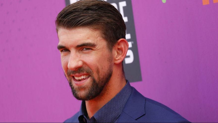 """Große Enttäuschung: Michael Phelps und der """"Fake-Hai"""""""