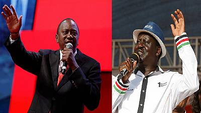 Conflicting polls place Kenya's main presidential candidates in the lead