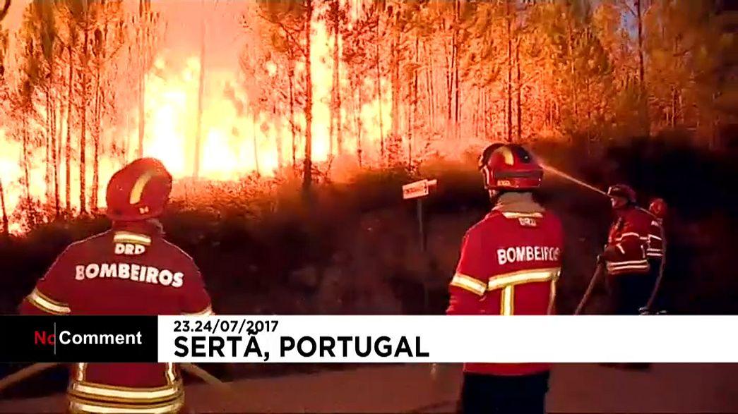 Le centre du Portugal est encore la proie des flammes