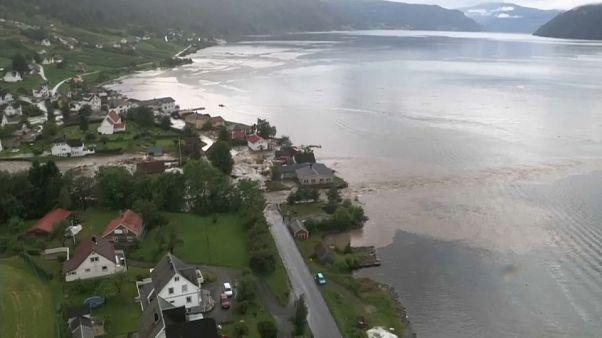 فيضانات جارفة في النرويج بسبب الأمطار الغزيرة