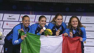 Mondiali scherma: azzurre d'oro nel fioretto a squadre
