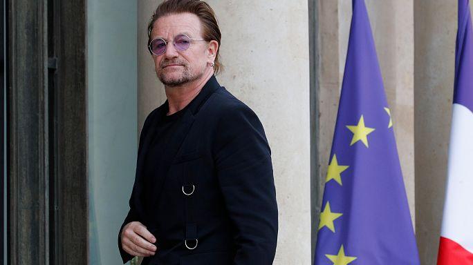 Bono reçu à l'Elysée