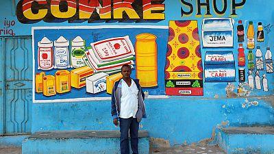 Mural artist 'Shik Shik' brightens up Somali shop fronts