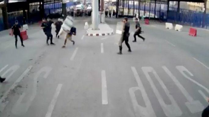 Spanish police subdue 'Allahu Akbar' attacker with traffic bollard