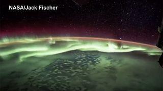 Einzigartig: Nordlichter aus dem All