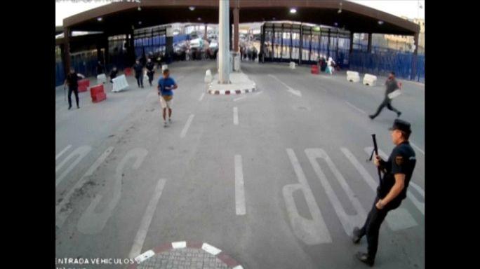 Egy forgalomterelő bójával ártalmatlanították a melillai támadót