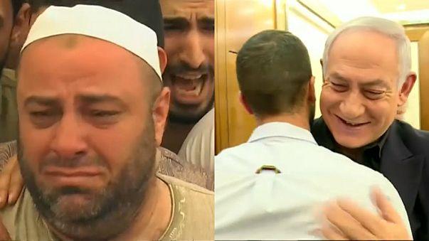 نتنياهو يستقبل ضابط السفارة ..ووالد القتيل الأردني يشيع جثمان ابنه