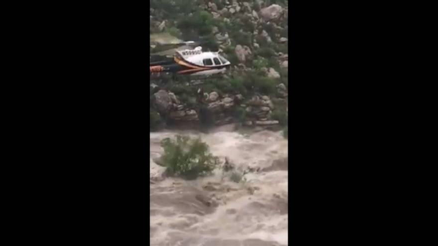 Hikers lifted to safety from Arizona torrents