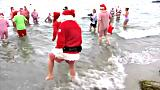 Il raduno dei babbi Natale a Copenaghen