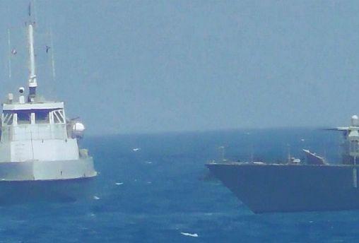 Figyelmeztető lövés az amerikai haditengerészettől