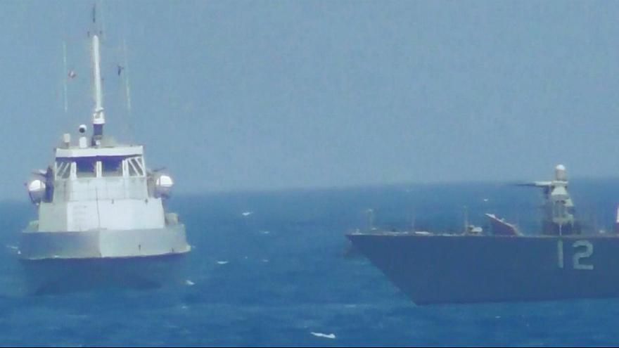 Корабль ВМС США открыл огонь по иранскому судну