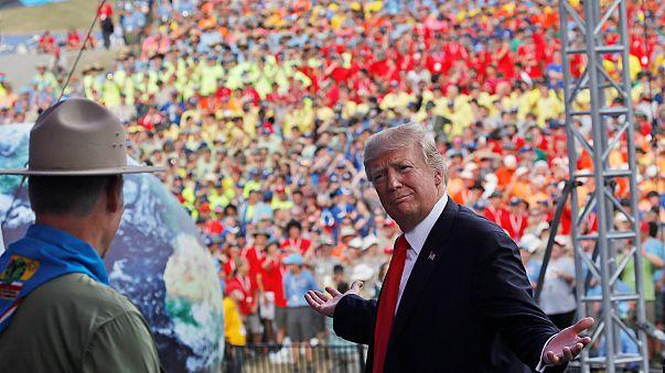 Fünf Zitate: Trumps umstrittene Rede vor 40.000 Pfadfindern