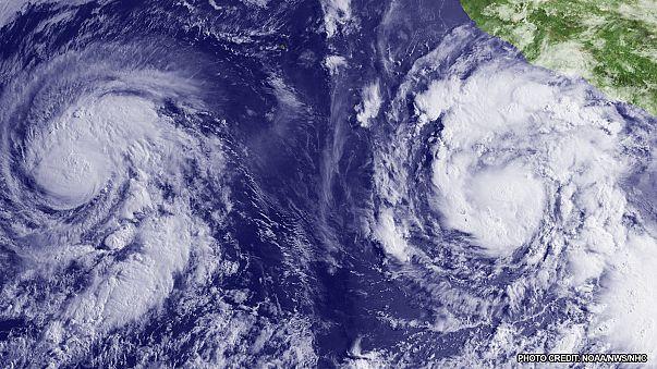 Deux cyclones sur le point de fusionner dans l'est du Pacifique