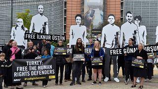 A Bruxelles Amnesty protesta contro gli arresti in Turchia