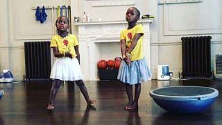 Madonna's Malawian twins enjoy Shakira's football track, Waka Waka
