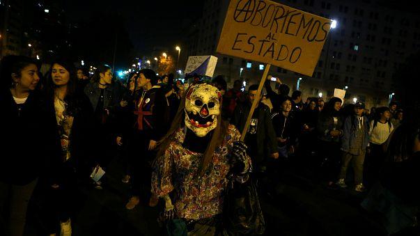 Marche pour l'avortement au Chili