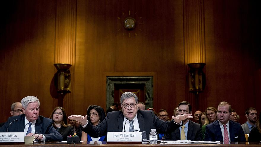 Image: Attorney General William Barr appears before a Senate Appropriations