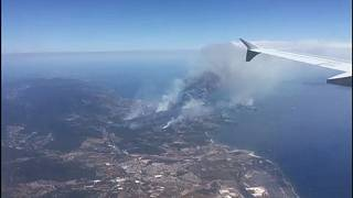Wildfires continue to rage on French Riviera