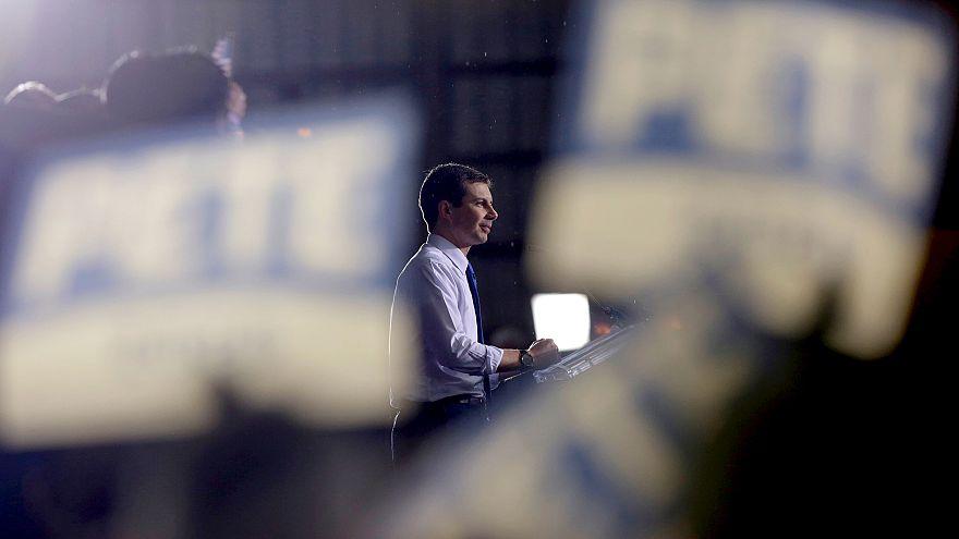 Image: South Bend Mayor Pete Buttigieg announces his candidacy for presiden