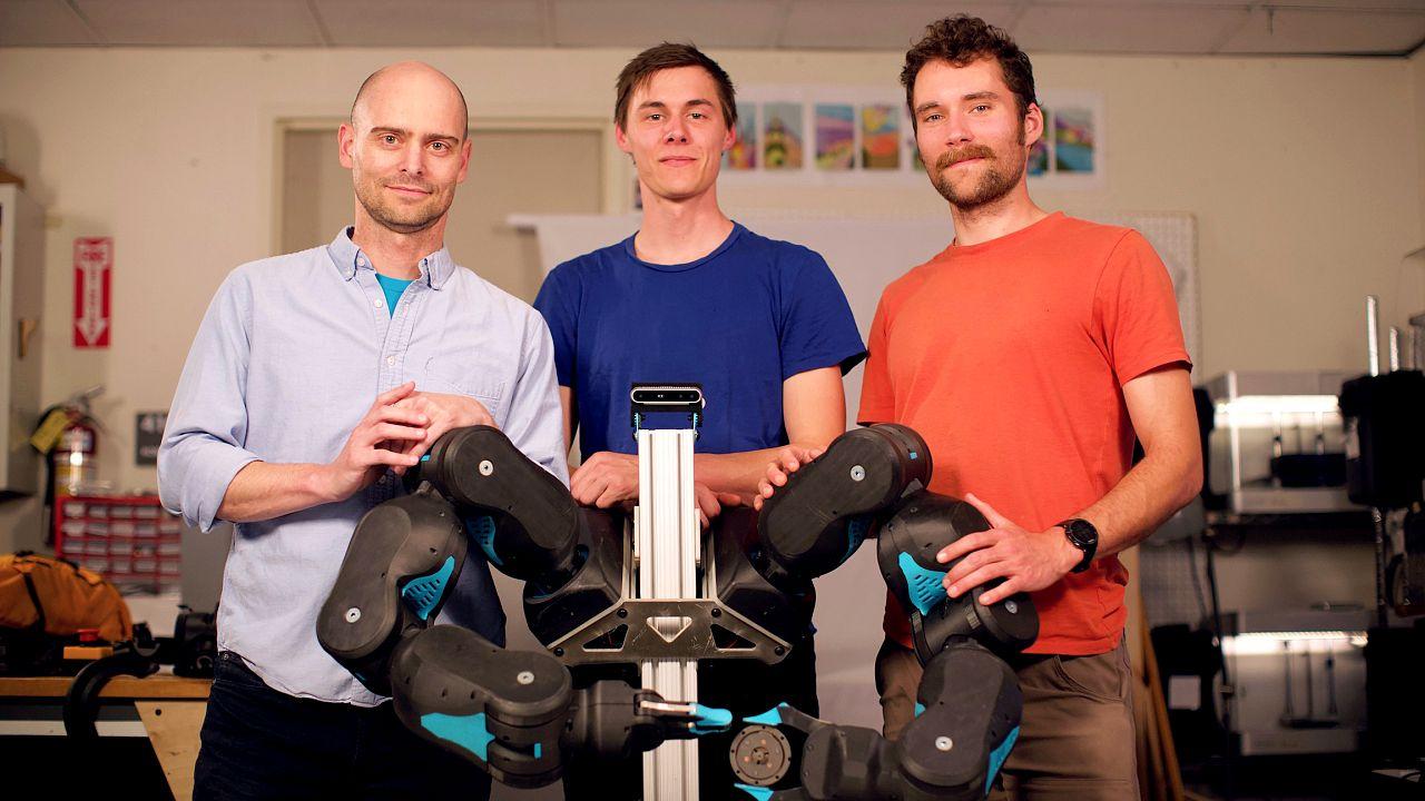 Image: Blue's creators, Pieter Abbeel, David Gealy and Stephen McKinley.