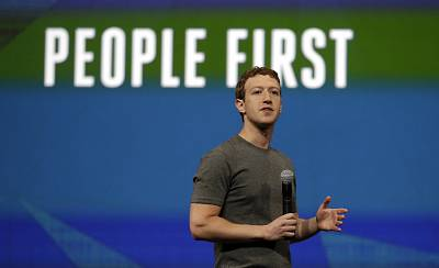 Facebook CEO Mark Zuckerberg delivers the keynote address at the F8 developer conference in San Francisco in 2014.
