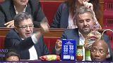 Mélenchon va al supermercado con 5 euros