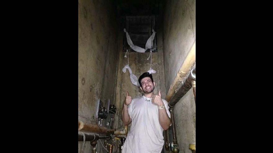 US prison inmates film jailbreak