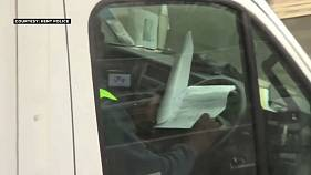 Watch: Lorry drivers caught doing paperwork and watching films at the wheel