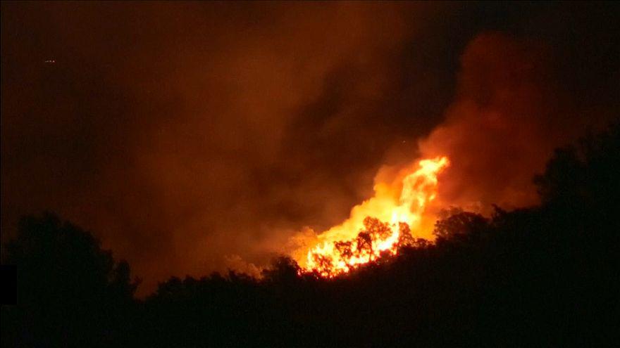 آتش سوزی در جنگل های جنوب فرانسه باعث تخلیه ساکنان و گردشگران شد