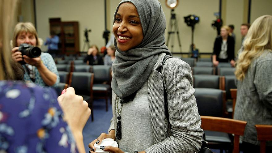 Image: FILE PHOTO: Representative-elect Ilhan Omar (D-MN) speaks to the med