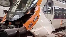 Dozens hurt in Barcelona train crash