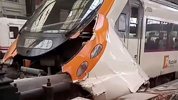 سانحه قطار در بارسلون دهها زخمی به جا گذاشت
