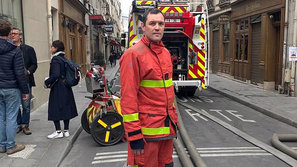 Image: One of the 400 firefighters who helped battle the blaze that engulfe